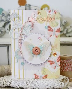 Like A Rainbow Card by Melissa Phillips for Papertrey Ink (February 2015)