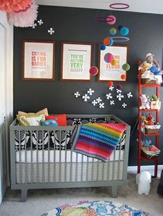gray baby room - Benjamin Moore Paint Color Black Berry 2119-20