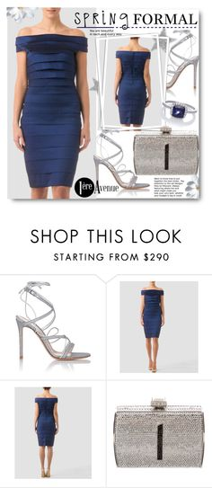 Spring Formal Dress by beebeely-look on Polyvore featuring Joseph Ribkoff, Gianvito Rossi, Judith Leiber, Lab, country, Spring, offtheshoulder, premiereavenue, premiereavenueboutique and JosephRibkoff