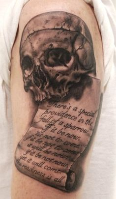 Shakespeare skull : I like the scroll a lot!