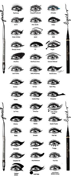I've found this on a fashion blog, and the blogger came across this illustration of designers' signature eyeliner looks from the spring 2012 fashion show.  I've looked everywhere tr...