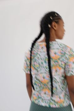 Beklina T-Shirt - Plate Print Printed Matter, Go Camping, Organic Cotton, Tie Dye, Menswear, Plates, Model, How To Wear, T Shirt