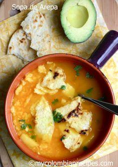 Sopa de Arepa  (Corn Cake Soup)