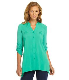 Westbound Button-Front Tunic   Dillard's Mobile