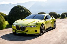 BMW 3 0 CSL Hommage Concept front three quarter in motion 02 First Drive, Bmw Cars, Car Car, Concept Cars, Cool Cars, Dream Cars, Automobile, Exercise, Bike