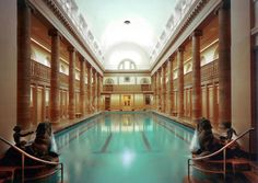 The grand surroundings of Neukoelln's public swimming pool complex