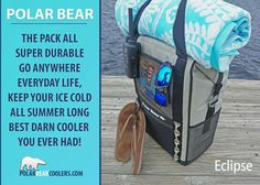 The New WATERPROOF Eclipse Backpack cooler PolarBearCoolers.com