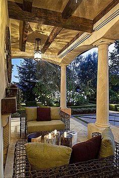 cozy outdoor space...