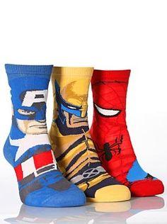 Marvel Heroes Captain America, Spiderman & Wolverine: Amazon.co.uk: Clothing  WANT