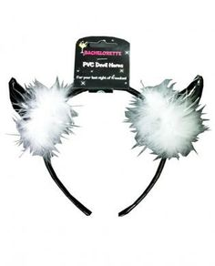 You're allowed to be a little naughty on your last night of freedom and celebrate it with style with the Bachelorette PVC Devil Horns from OMG International. Bachelorette Supplies, White Fur, Black And White, Best Part Of Me, Party Wear, Horns, Devil, Halloween Party, Celebrities