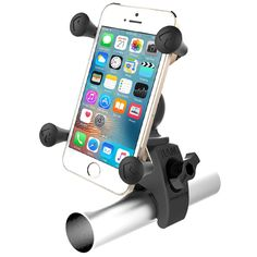 The RAM-HOL-UN7-400U phone holder is a streamlined version of RAM Mount's popular phone holder is great for mounting your phone on your bike.   https://www.hurtlegear.com.au/ram-hol-un7-400u-ram-tough-claw-mount-with-universal-x-grip-phone-cradle/