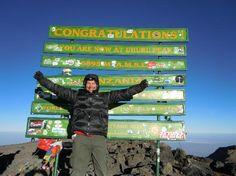 Mount Kilimanjaro: Me at Uhuru Peak, on the summit of Kilimanjaro, Tanzania
