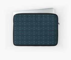 Gift for Blue Color Lovers • Millions of unique designs by independent artists. Find your thing. Dark Blue Background, Dark Blue Color, Blue Aesthetic, Laptop Case, Back To Black, Pattern Wallpaper, Midnight Blue, Textures Patterns, Laptop Sleeves