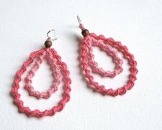 Crochet earrings by ginaska
