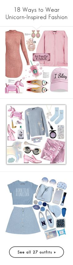 """""""18 Ways to Wear Unicorn-Inspired Fashion"""" by polyvore-editorial ❤ liked on Polyvore featuring waystowear, UnicornStyle, Steve Madden, Ciner, Sophia Webster, Kate Spade, contest, Pink, HowToWear and babypink"""