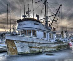 All fishing boat in Sitka Harbor.  Unusually cold morning seems to have trapped the fishing fleet.  Nikon D800. Nikkor 70-200 f2.8 lens