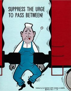 Railroad Safety Posters from the 60s