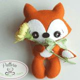 Little Things to Share - Tail the Fox Felt Pattern