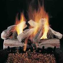 Rasmussen Evening Crossfire Gas Log Set with Vented Valve Vanisher Propane Flaming Ember Xtra Burner with Grate - Remote Ready Safety Pilot Fireplace Tool Set, Gas Fireplace Logs, Gas Logs, Gas Log Burner, Best Fire Starter, Pine Mountain, Log Fires, Wood Logs, Fire Glass