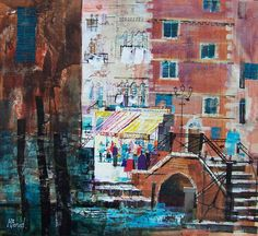 LUNCH IN VENICE 17.5x19.5 ins