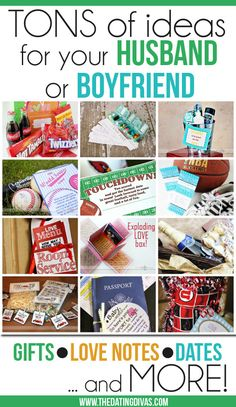 TONS of ideas for the man in your life.  Perfect for birthdays, anniversaries, Christmas, or just because!