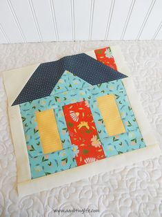 Sew Block Quilt Winterville house quilt block - The Saturday Seven Inspiration for quilters weekly post with fun things for quilters. Find fabrics, free patterns, recipes, and more! House Quilt Patterns, House Quilt Block, House Quilts, Quilt Block Patterns, Pattern Blocks, Quilt Blocks, Applique Patterns, Sewing Patterns, Quilting 101