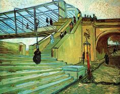 gogh the trinquetaille bridge 1888 89 (from Old Painters)