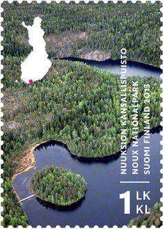 Nuuksion kansallispuisto -postimerkki | Finland, Noux Nationalpark near Helsinki.