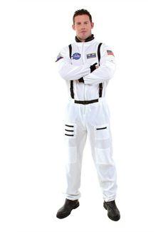 Mens Rocket Astronaut Space Men Adult Jumpsuit Halloween Costume