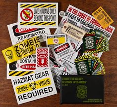 I so bad want this! Zombie survival kit lol!!!