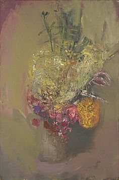 Flowers, by Joan Eardley. © Estate of Joan Eardley. All Rights Reserved, DACS Image: © National Galleries of Scotland. Flower Of Life, Flower Art, Glasgow School Of Art, Painting Collage, Impressionist Art, Botanical Flowers, True Art, Famous Artists, Abstract Landscape