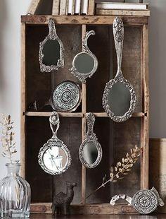 mini Victorian Hand Mirrors