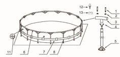 Verbindungs Rohre Für Intex Pool Metal Frame Intex Pool, Mirror, Bathroom, Shop, Home Decor, Round Bathroom Mirror, Pipes, Washroom, Decoration Home