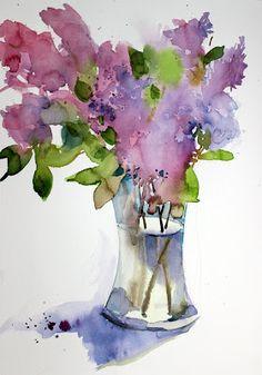 laura's watercolors: apple blossom
