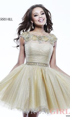 Prom Dresses, Celebrity Dresses, Sexy Evening Gowns - PromGirl: Short Sherri Hill Homecoming Dress