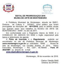 INFORMATIVO GERAL: Inscrições para MAM - Museu de Arte de Montenegro ...