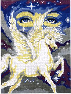 Unicorn and Stars Betty Boop, Amber, Unicorn, Moose Art, Crafting, Collage, Stars, Crochet, Animals