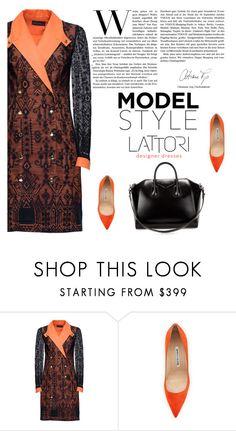 """LATTORI dress 24"" by mell-2405 ❤ liked on Polyvore featuring Lattori, Manolo Blahnik, Givenchy, dress, dresses and lattori"