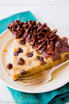 Chocolate chip cookie cake from Sally's Baking Addiction