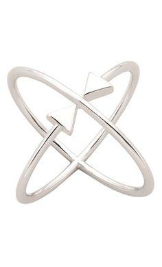 Karen Walker Atomic Arrow ring - sterling silver