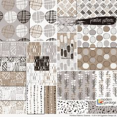Primitive Patterns, a new fabric collection by Gill Eggleston for www.modernyardage.com |  #fabric #sewing #quilting