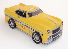 """Blechdose Gebäckdose Vorratsdose """" New York Taxi """",26 cm Schmuckdose,NEU"""
