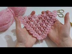 Μοντέλα δεμένη σάλι / δεμένη σάλι / πλεκτά κασκόλ / σάλι μοντέλα με απλά σχέδια και πώς να φτιάχνετε - YouTube Motif Simple, Crochet Shawl, Shawls And Wraps, Mittens, Free Pattern, Diy And Crafts, Crochet Necklace, Stitch, Knitting
