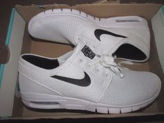 Nike SB Stefan Janoski Max Skateboarding Shoes Mens 11 White Black 631303 100 #Nike #Skateboarding