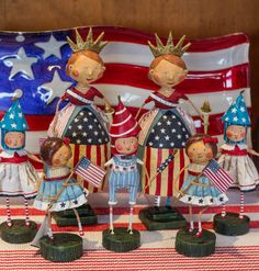 Lori Mitchell figures provide a whimsical American spirit to summer décor. http://rogersgardens.com/home-decor/