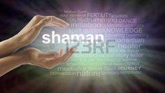 schamane: Shaman Wortwolke und heilende Hände - weiblich hohlen Hand mit dem…