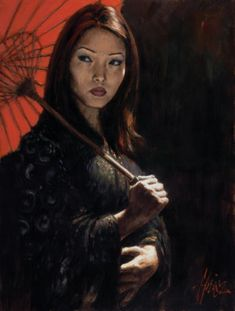 Fabian Perez art gallery, committed to offering great prices to the public. We specialize in Fabian Perez original paintings and limited edition prints. Fabian Perez, Parasol, Illustrations, Illustration Art, Tango, Local Art Galleries, Original Art, Original Paintings, Art Paintings For Sale