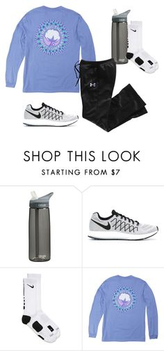 """Keeping warm"" by ambermillard ❤ liked on Polyvore featuring CamelBak, NIKE and Under Armour"