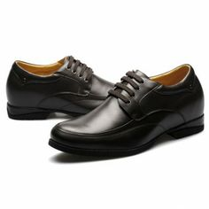 a5fe03df02c Italian Black Leather Height Increasing Shoe for Man Can be taller   elevator  dress shoes