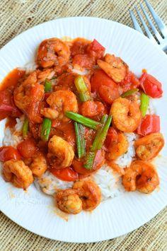Cajun Shrimp & Rice | from willcookforsmiles.com